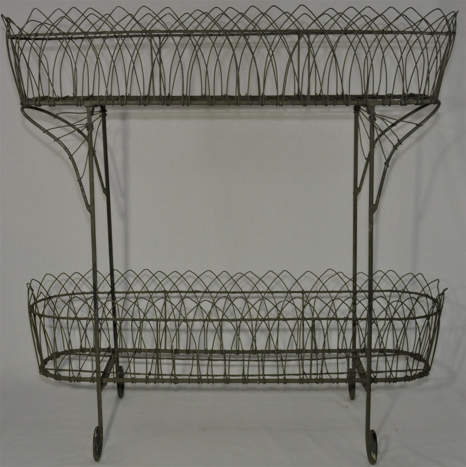 Two-Tiered French Wire Planter