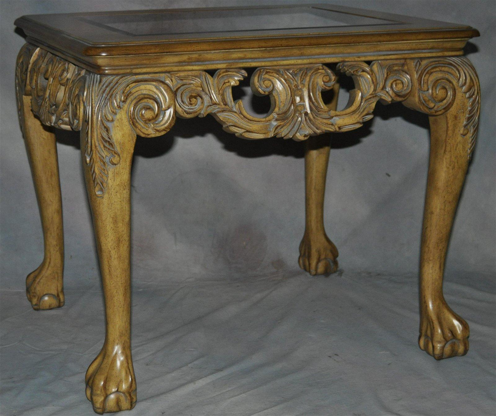 Anglo-Indian Style Burlwood Table