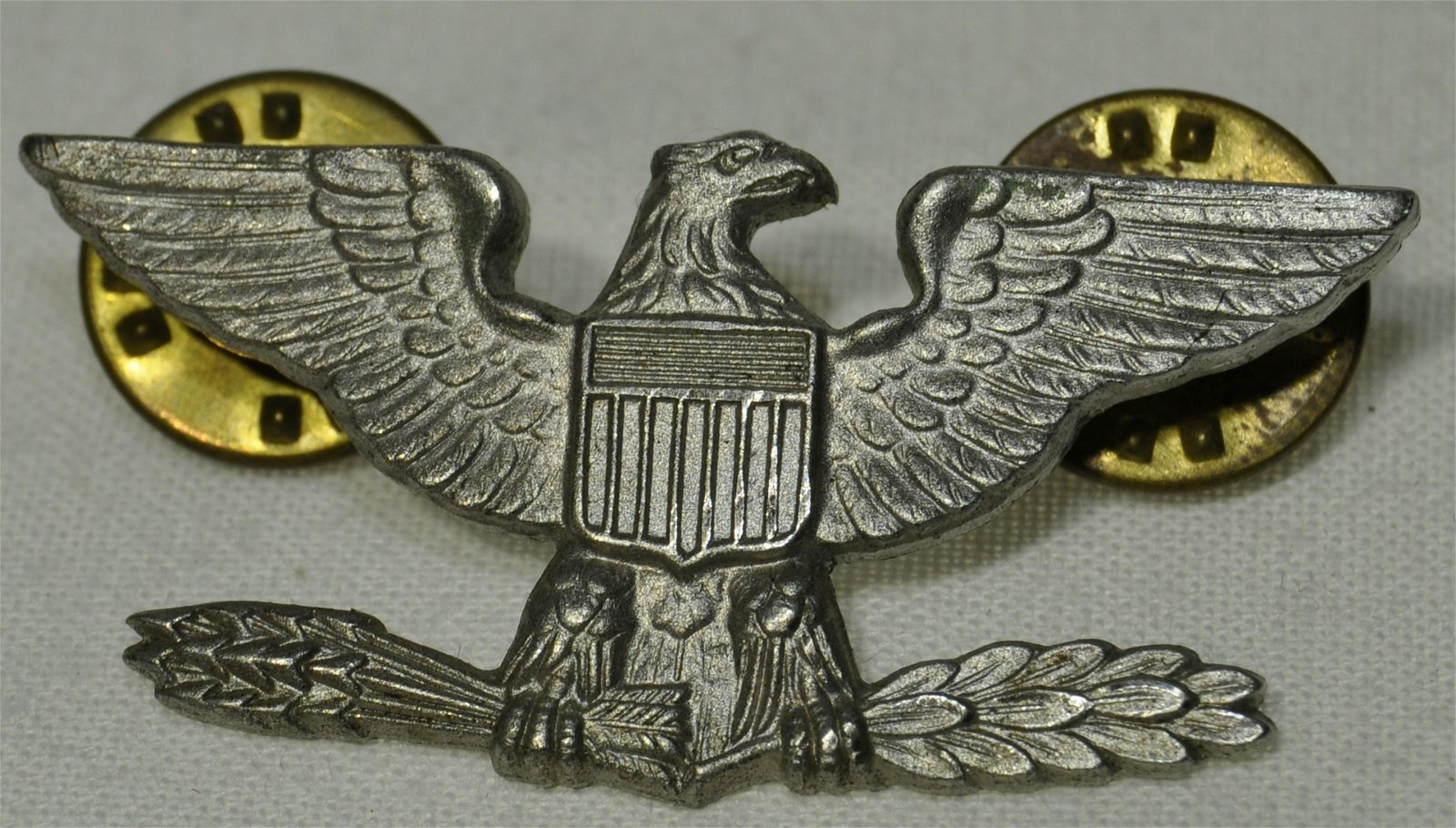WWII Army Colonel Sterling Insignia Pin
