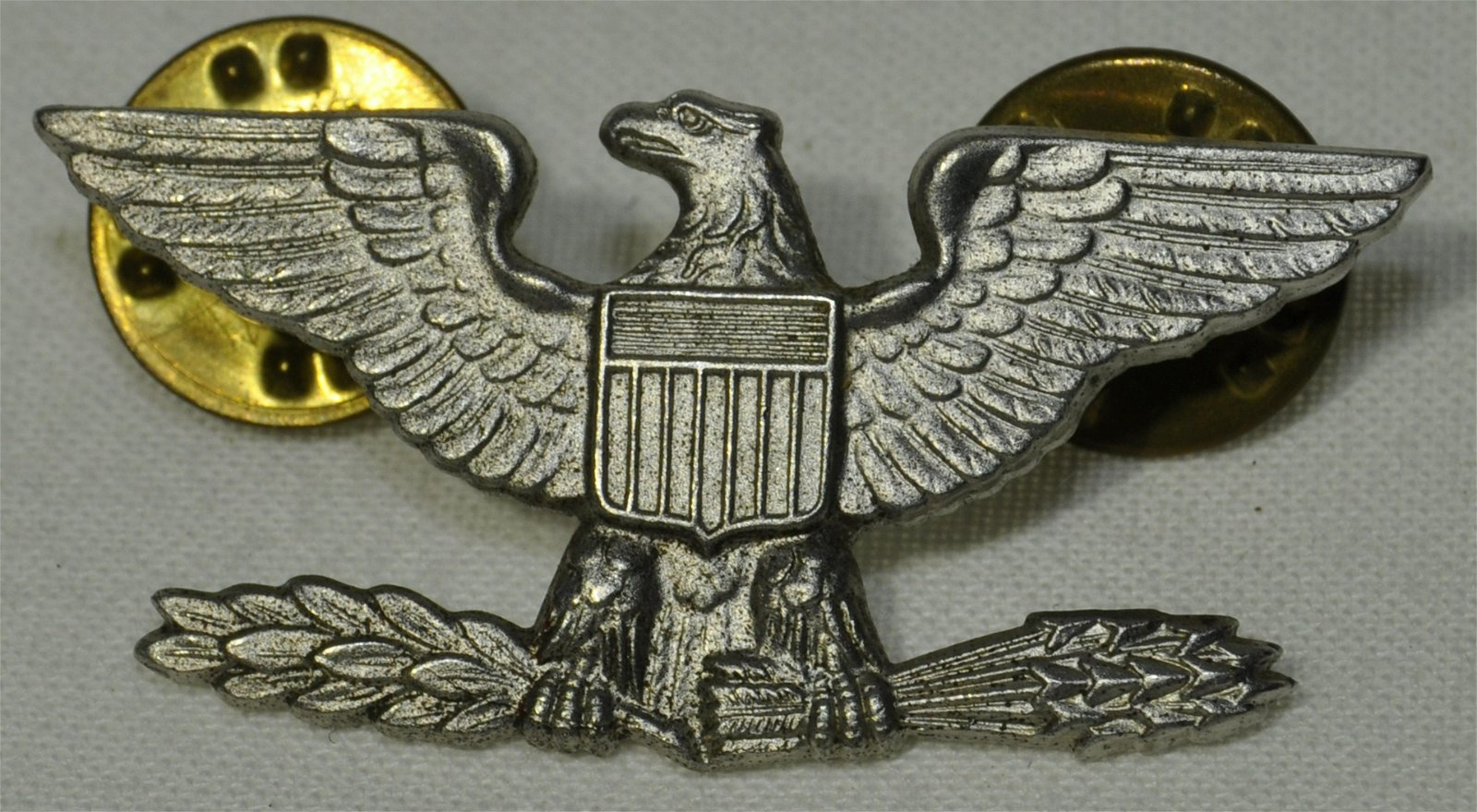 WWII Army Colonel Sterling Insignia Pinn