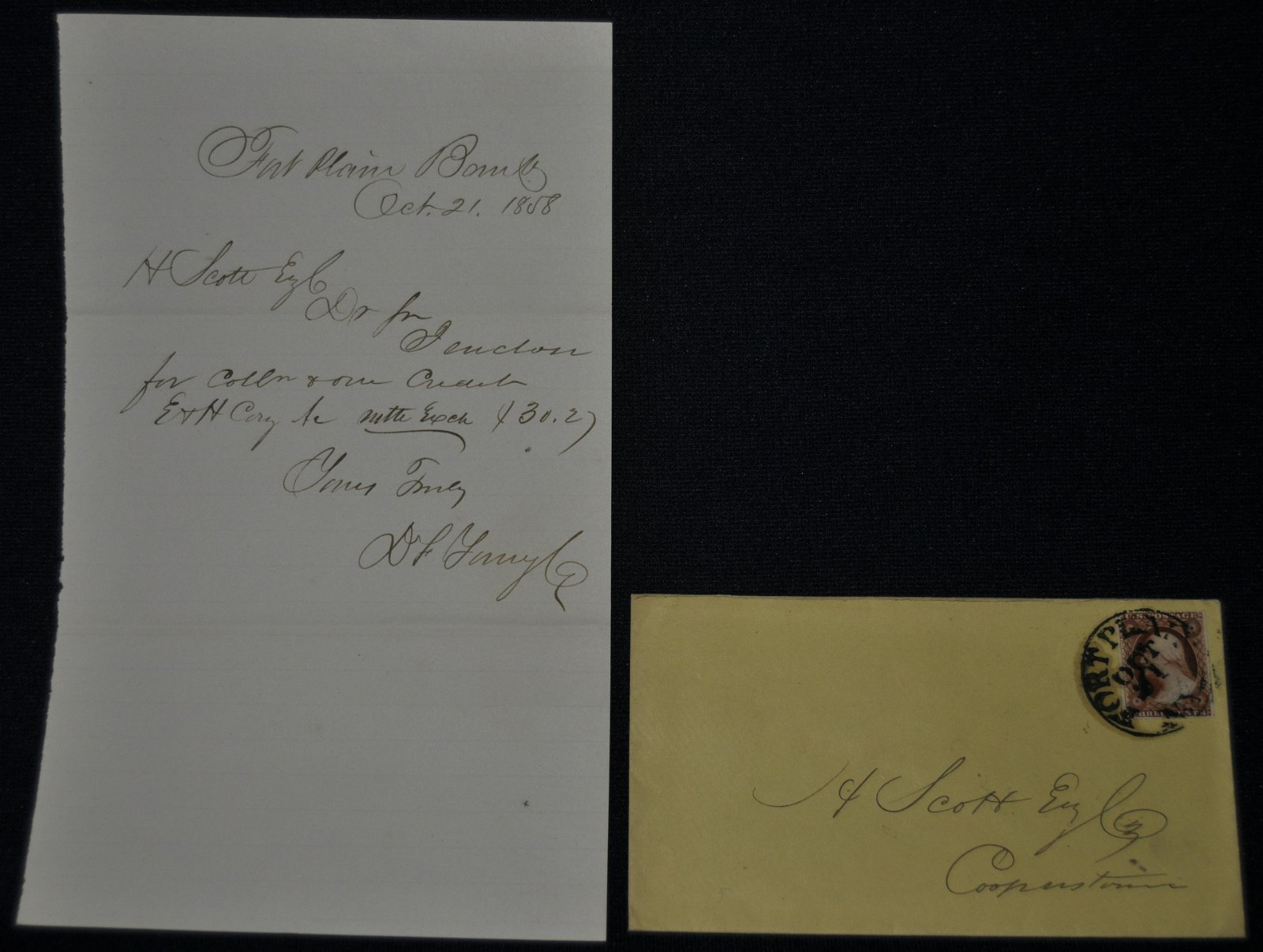 19th Century Bank Collection Letters With Covers