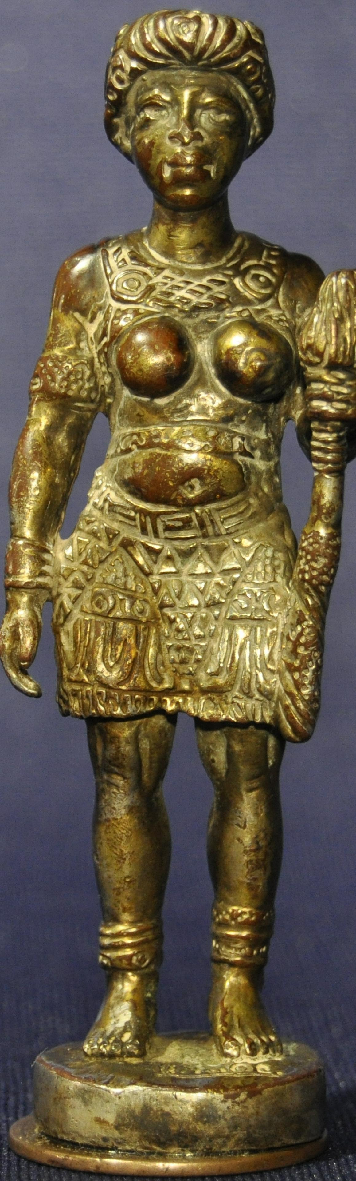 Queen Ana Nzinga Diminutive Bronze Figure