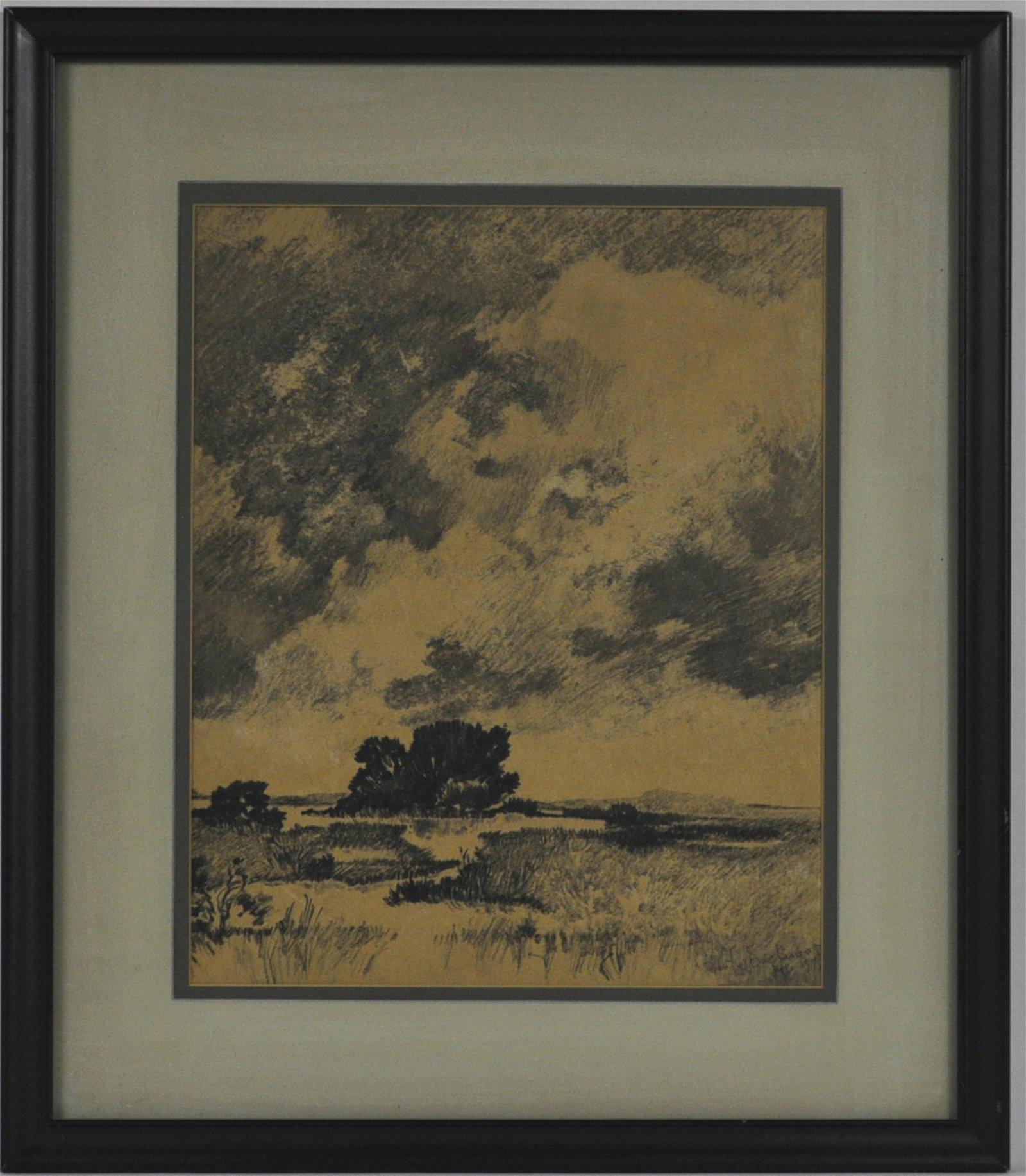 Robert Lockwood Landscape Drawing