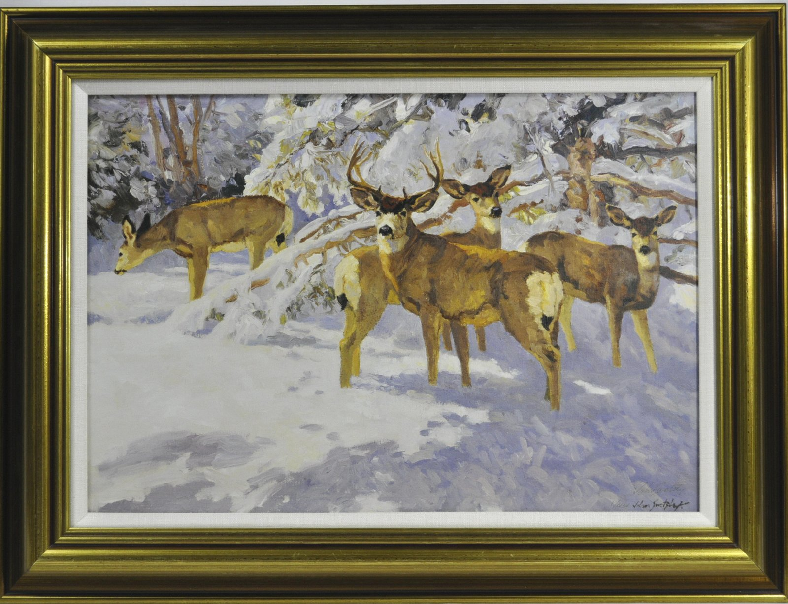 "John Swatsley ""Snow On The Cimarron"" Giclee"