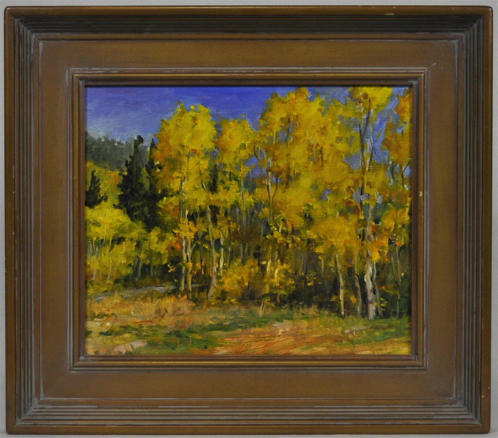 "Teresa Vito ""Aspen Gold"" (On Ute Pass) Painting"