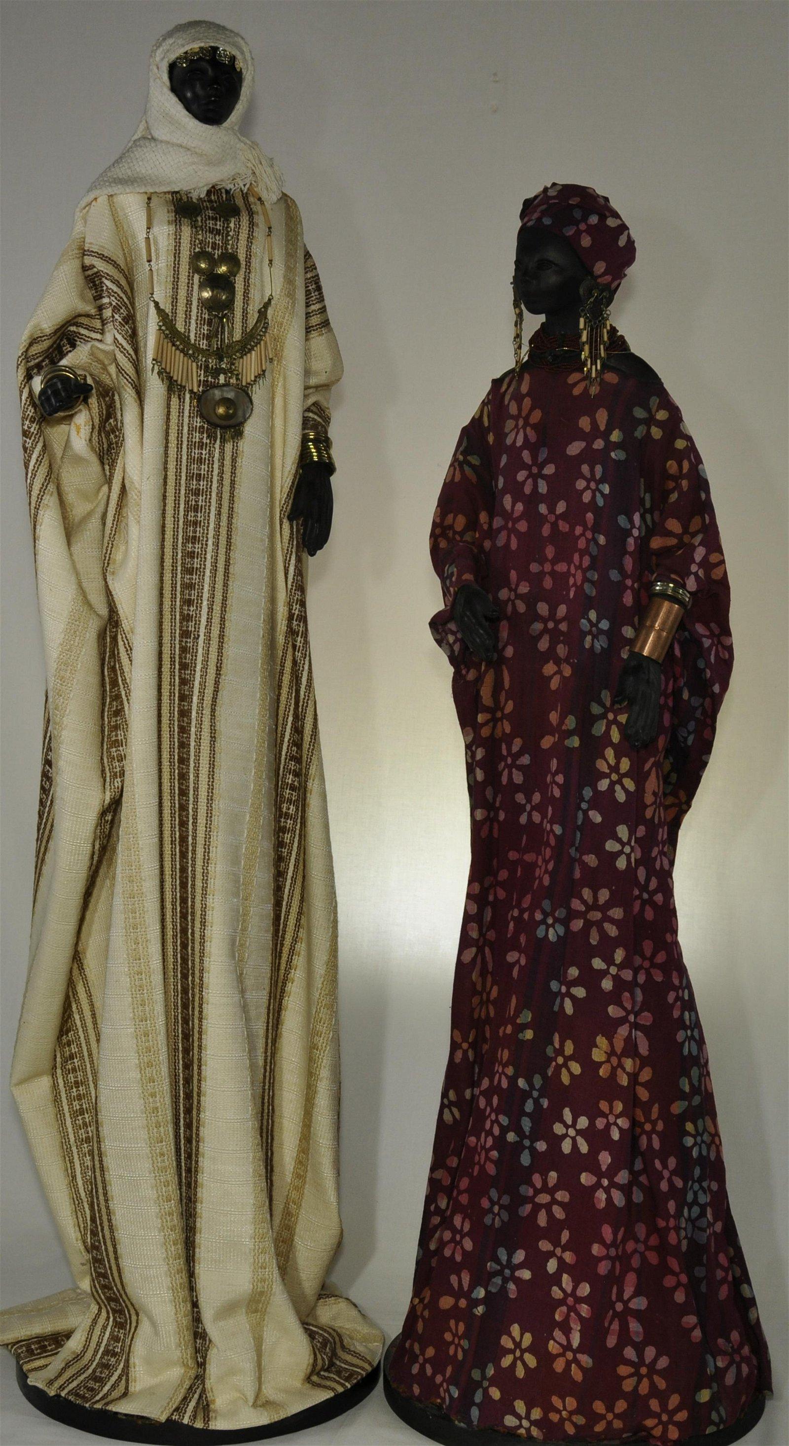 "Ann Entis ""Tribal Sisters Series"" Nubian Figures"