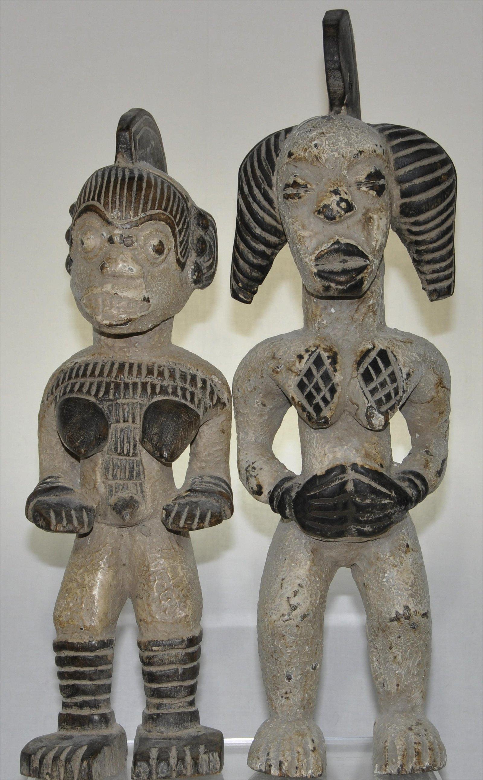 Gabon Punu Culture Female Carvings