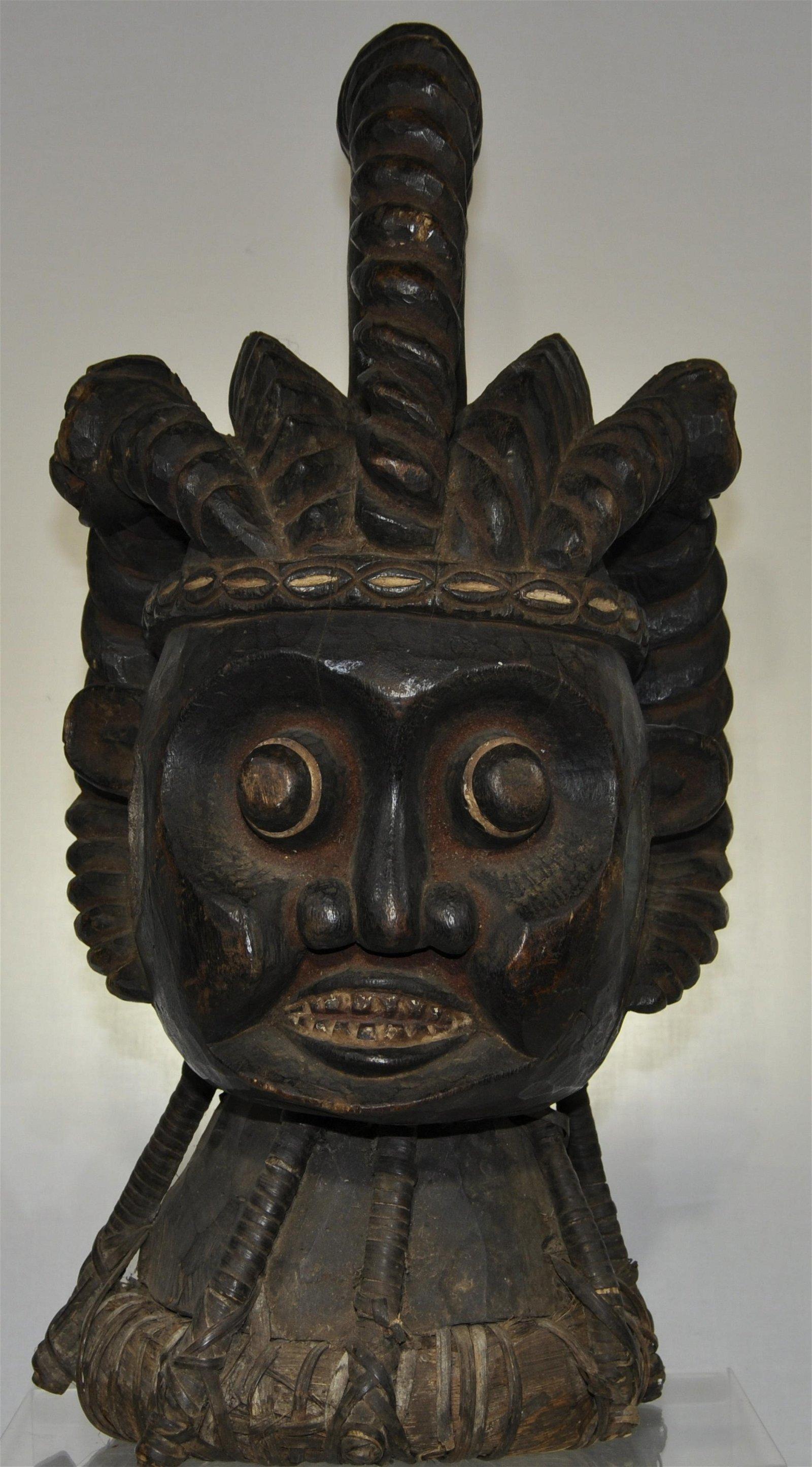 Elaborate Bamileke Helmet Mask