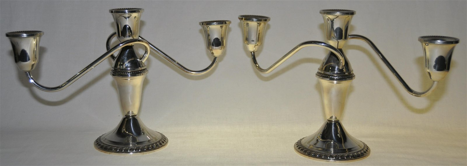 Weighted Sterling Candelabras