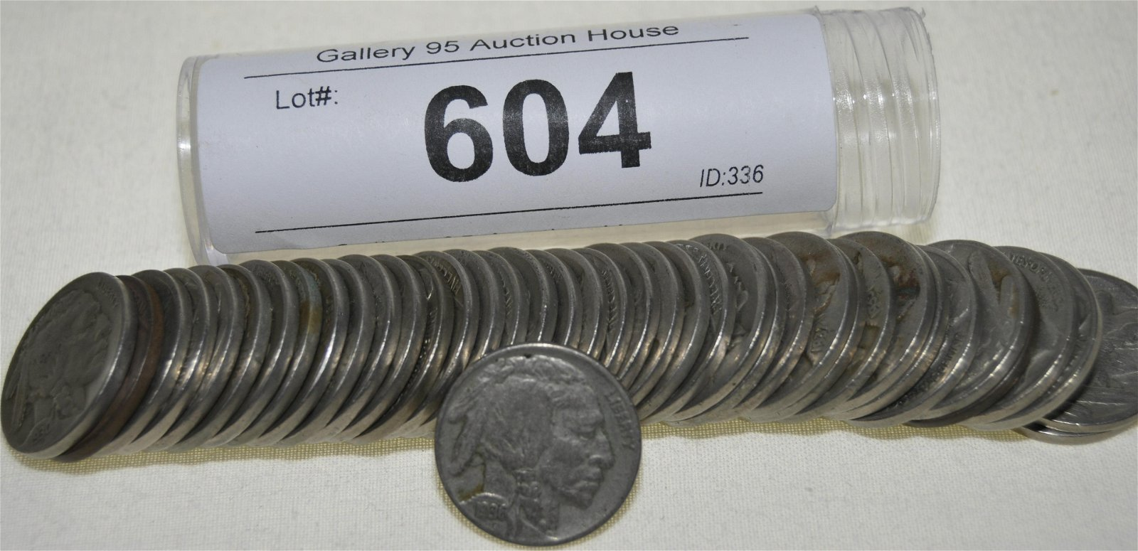 Tube of 40 Mixed Date Buffalo Nickels