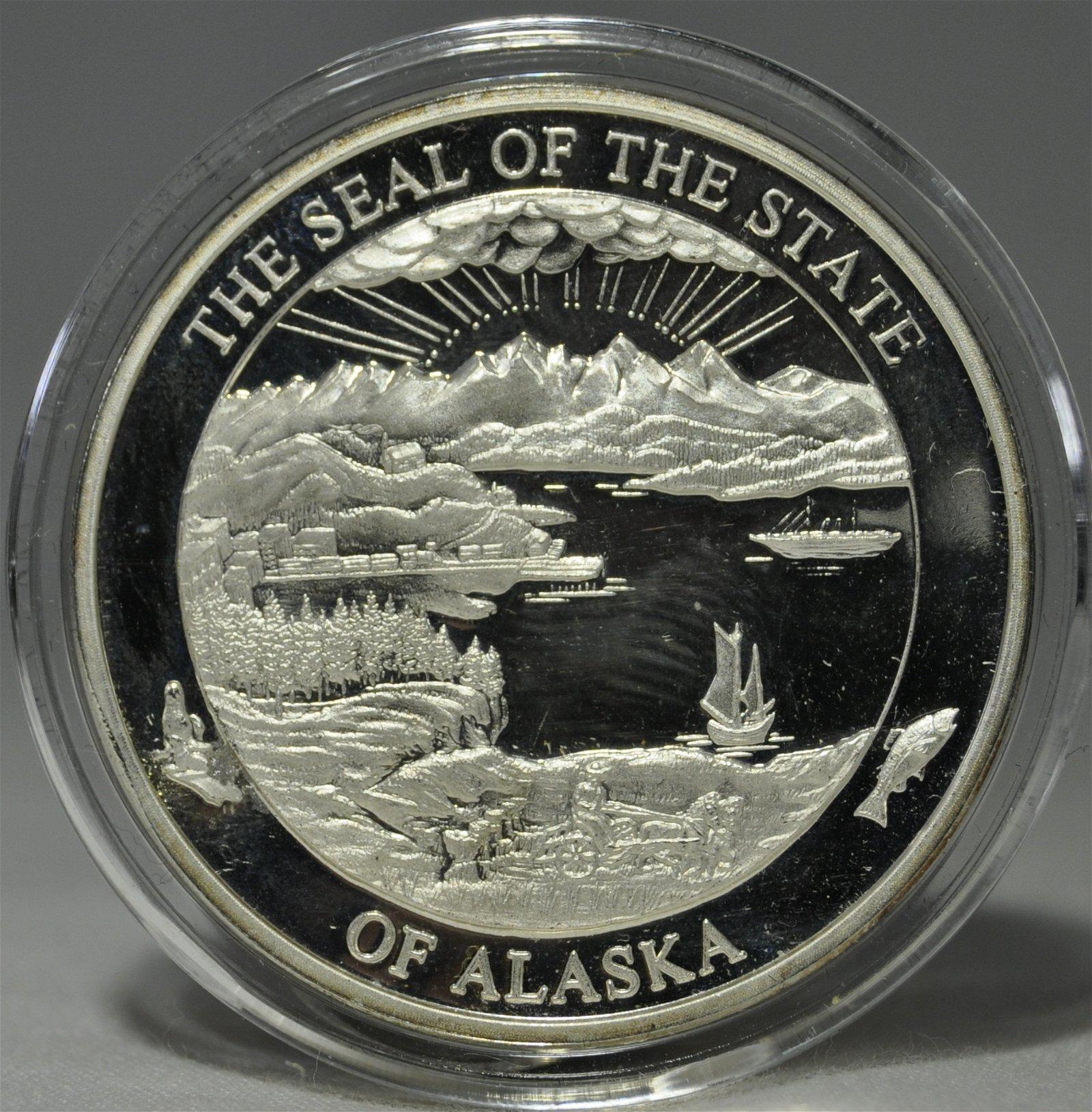 2009 Alaska Mint 1oz 999 Silver Proof Medallion