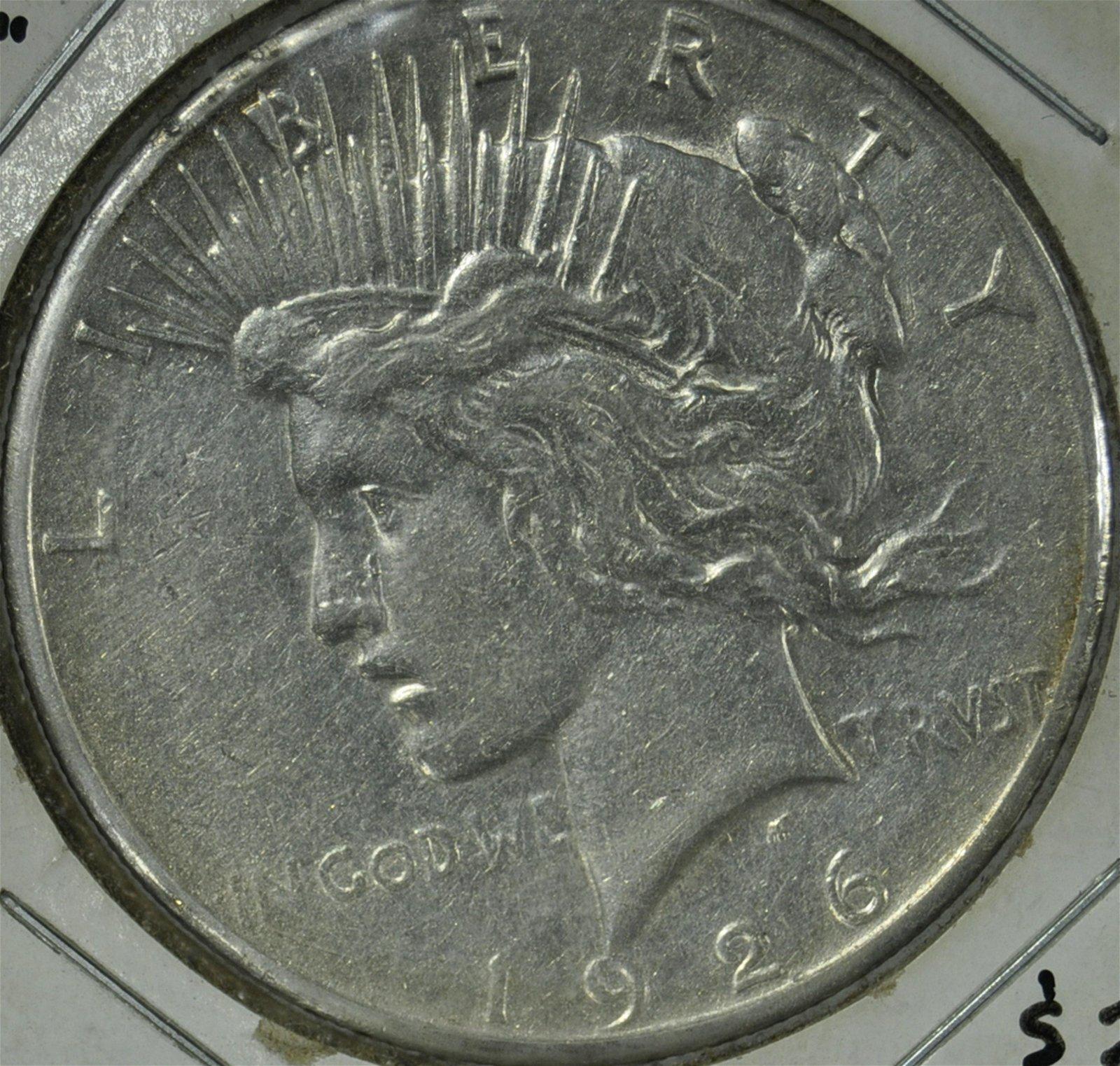 """1926 """"S"""" Peace Dollar"""
