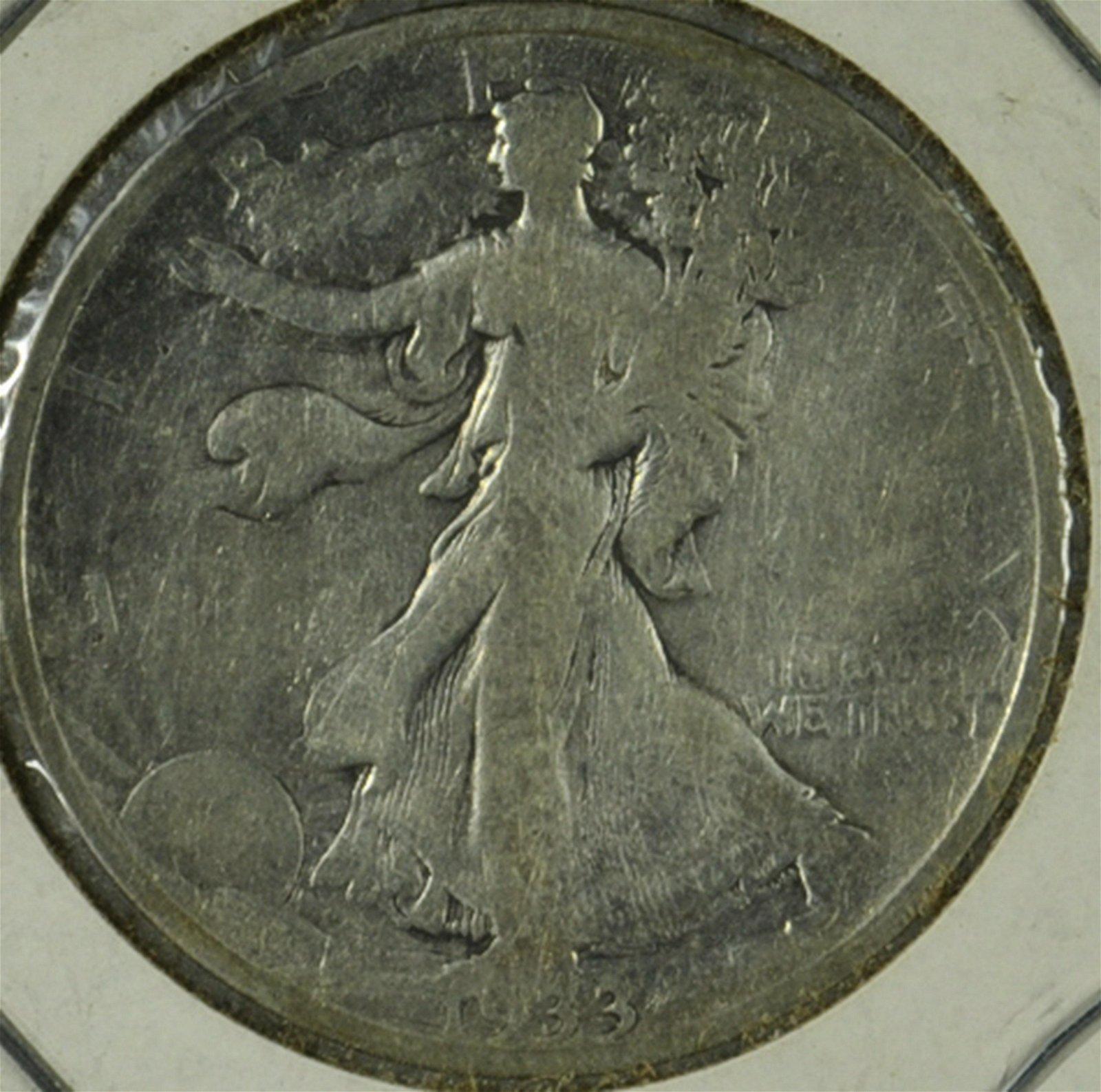 1933 S Walking Liberty Half