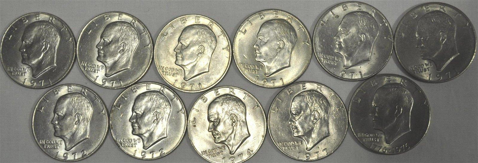 11) Eisenhower Dollars