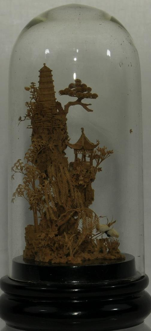 Intricate Chinese Cork Diorama