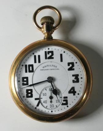 7945: Hamilton Railroad Pocket Watch