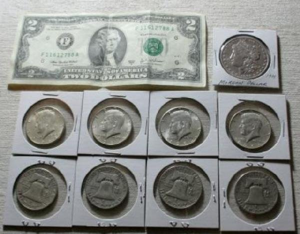 8078: Morgan Dollar, Liberty Half