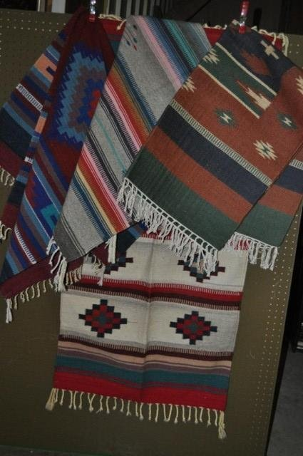 3: Native American Textile Rugs, 4pcs