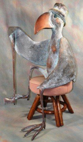 1007: Seated Walter Palmer Bird Golfer Sculpture
