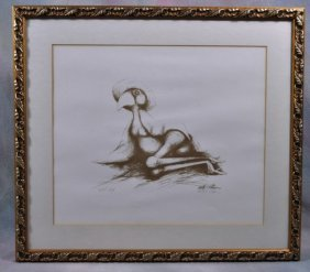 "1009: Walter Palmer Lithograph Artist Proof ""Big Sister"