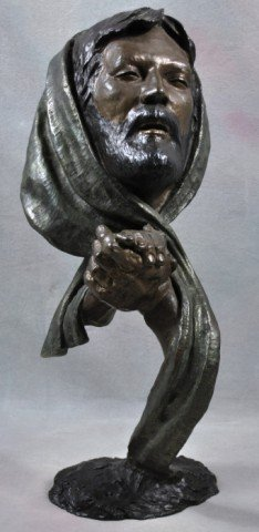 "1011: Bronze Mark Hopkins Sculpture ""The Prayer"""