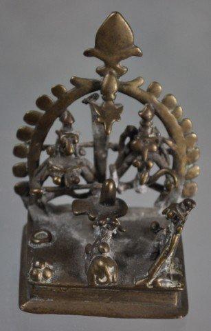 1019: Antique Hindu Devotional Bronze