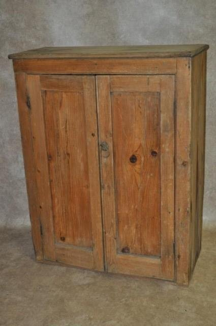 23: Primitive Pine Country Cupboard