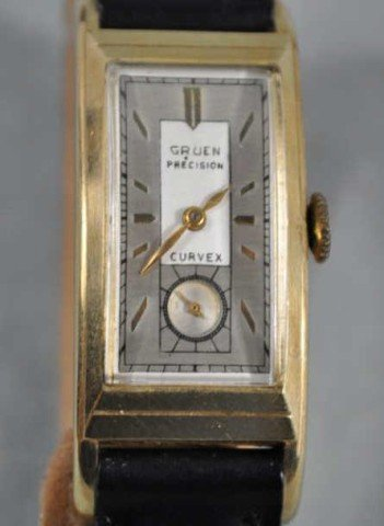 Gruen Men's 14kt Yellow Gold Art Deco Watch