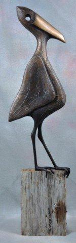 1008: Walter Palmer Bird Watcher Sculpture