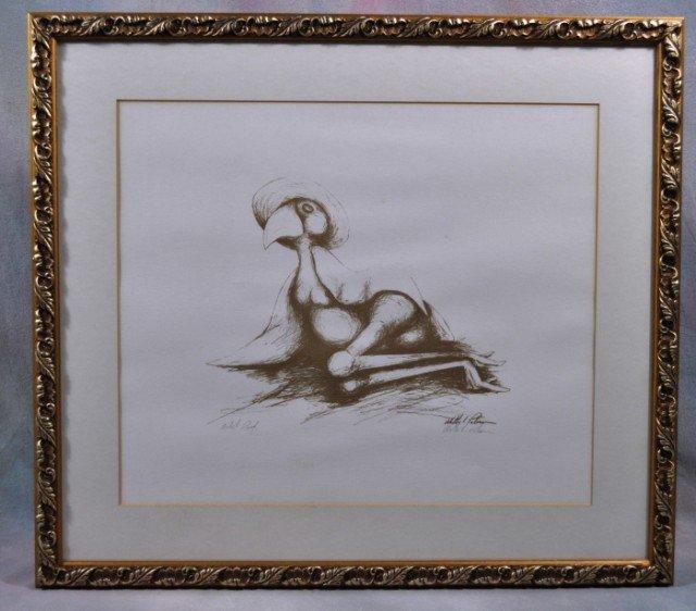 "1009: Walter Palmer Lithograph Artist Proof ""Big Sister"