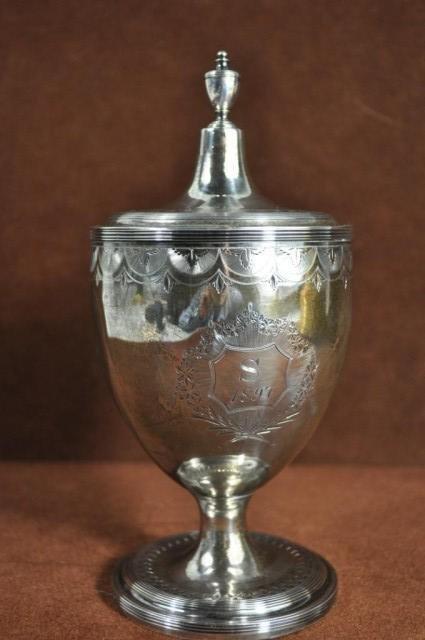 9: George III Covered Sugar Vase