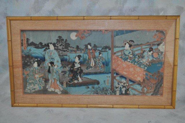 24: Toyoshiga Kunisada Wood Block Triptych