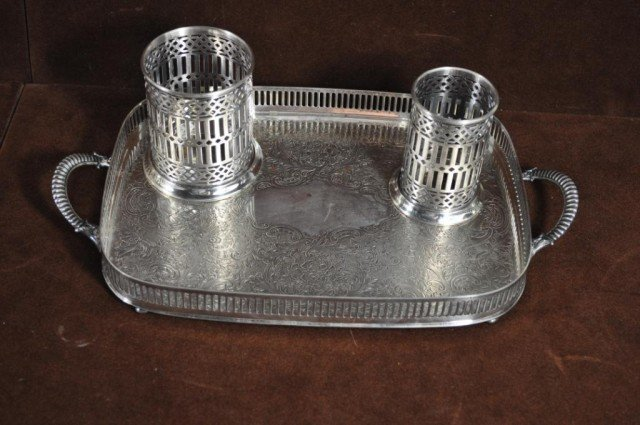 205: S.F. Co. Silver Plated Tray, Plus, 3pcs