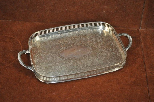 205: S.F. Co. Silver Plated Tray, Plus, 3pcs - 4