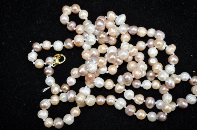 9: Hand Knotted Pearl Necklace
