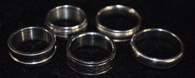 12: 5 Men's Titanium Rings