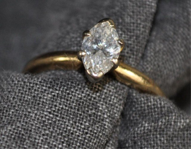 20: Tested 14kt Diamond Ring