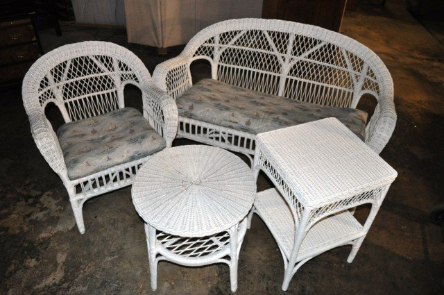 27: Wicker Porch Set, 4pcs