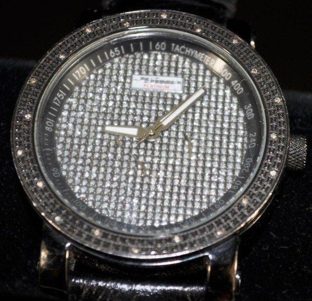 Men's Jojino Platinum Diamond Watch