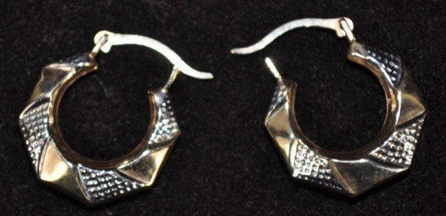 Stamped 10kt Earrings, Pair
