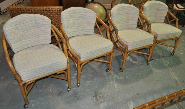 Ficks Reed Rattan Dinette Chairs, 4pcs