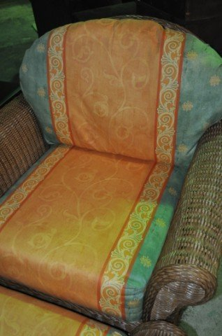 Henry Link Wicker Chair and Ottoman - 3