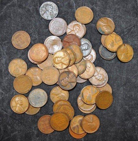 Wheat Pennies, 52pcs