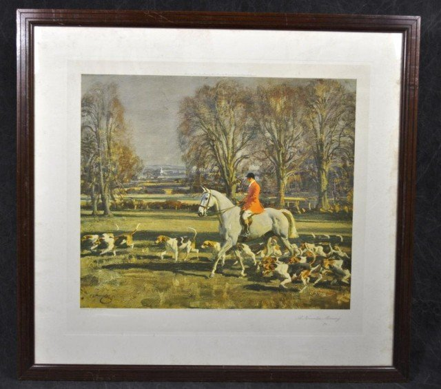 "Framed Hunt Scene ""November Morning"""