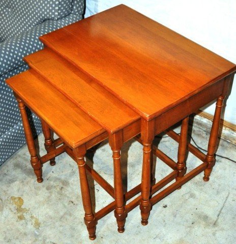 Cherry Nesting Tables, 3pcs