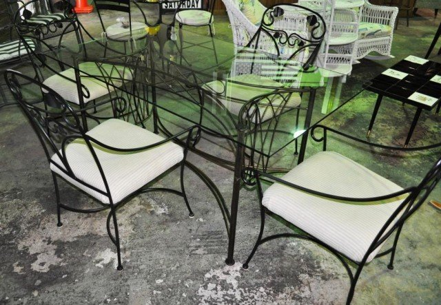Glass Top Dining Set, 5pcs
