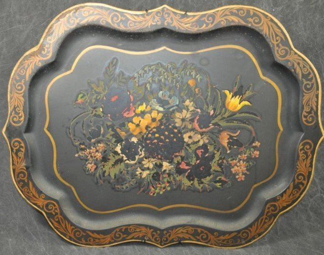 Tole Painted Serving Tray