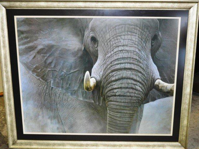 "Robert Bateman ""The Power of One"" Large Elephant Print"