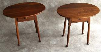 Stickley Single Drawer Side Tables Pair