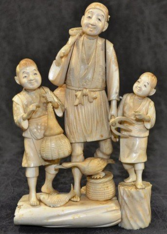 Japanese Ivory Figural Group